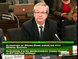 Image: Marc Mayrand in TV screen capture before Parliament committee