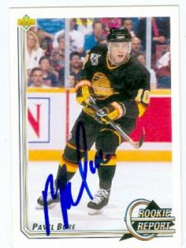 Autographed Pavel Bure playing card 1992