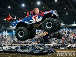 Harper in monster truck
