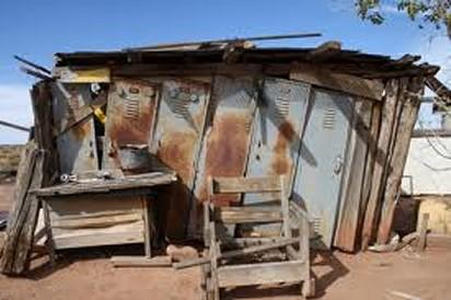 homeless shack