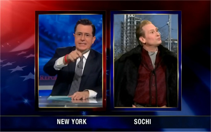 Stephen Colbert and Scott Thompson as Buddy Cole