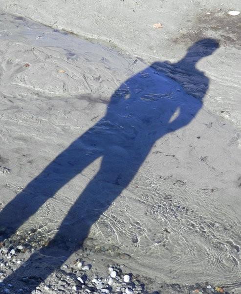 Silhouette of teenage boy