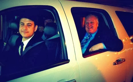 Jimmy Kimmel chauffering Rob Ford
