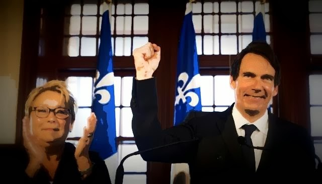 Pauline Marois and Pierre-Karl Péladeau