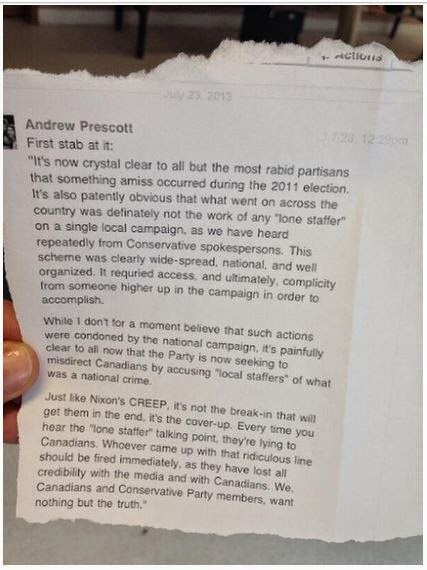 Andrew Prescott statement