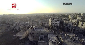 Bombed out Al-Shejaiya in Gaza