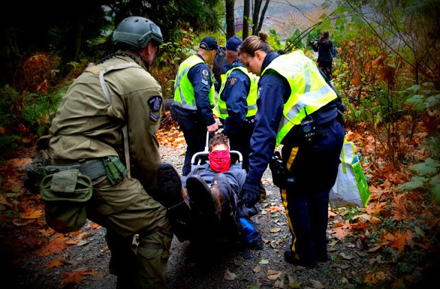 RCMP remove Burnaby Mountain protester