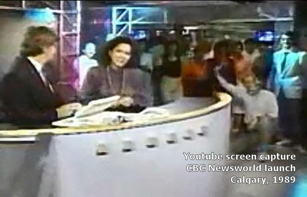 CBC Newsworld Calgary launch, 1989