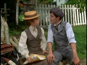 "Sarah Polley as Anne and Jonathan Crombie as Gilbert in ""Anne of Green Gables"""