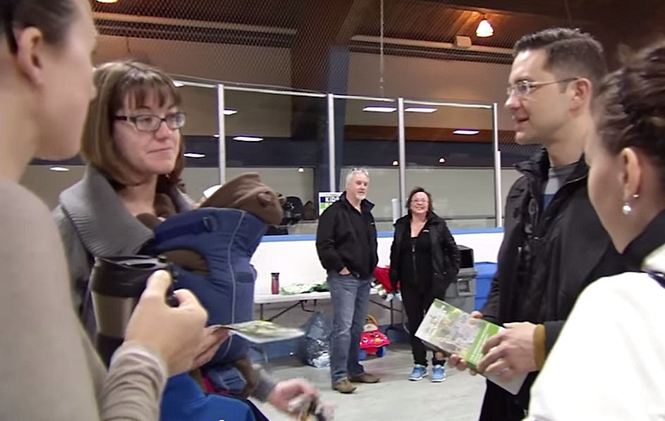 Pierre Poilievre with constituents in video