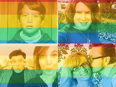Rainbowed facebook pics