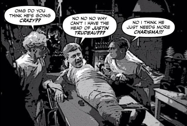 Harper as the Frankenstein monster