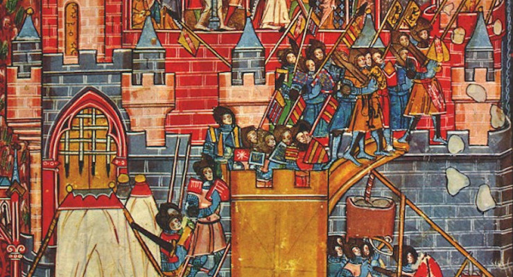 1099 Siege of Jerusalem (13th century miniature)