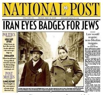 National Post front page, fake story