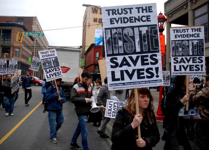Insite protest