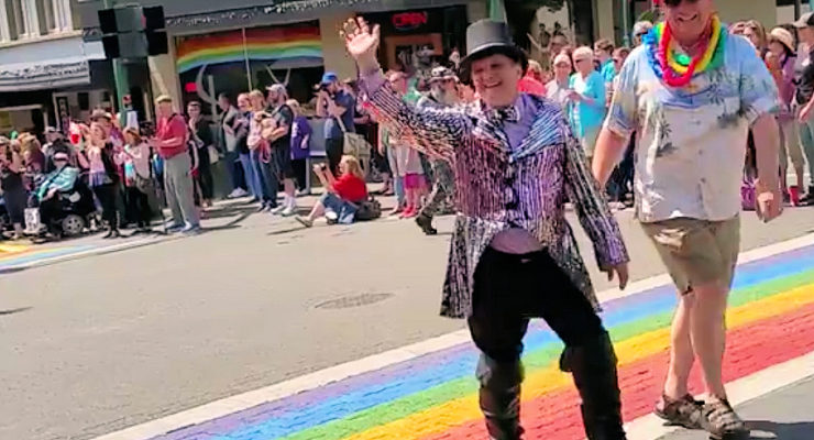 Rick Meyers in Nanaimo Pride Parade