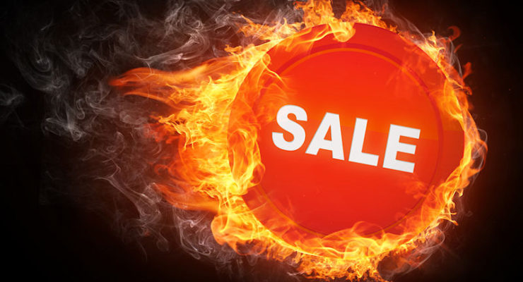 Fire sale sign