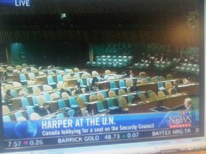 harper at the UN