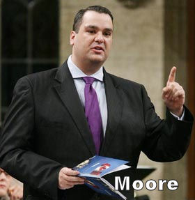 Image: James Moore in Parliament
