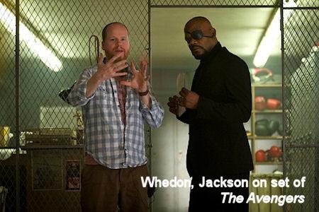 Image: Joss Whedon directing Samuel L. Jackson