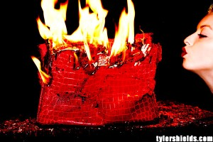 Image: Handbag burning