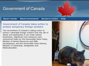 Image: Government of Canada website with cat added