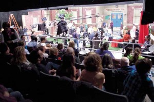 Studio audience watches taping of Mr. Young