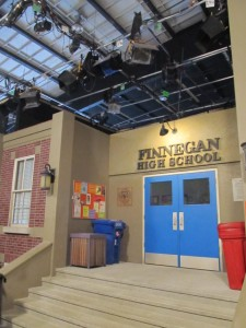 Exterior of Finnegan High, on the set of Mr. Young