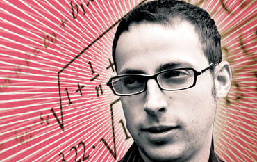 Nate Silver against a math backdrop