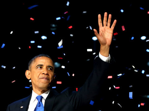 Obama at victory speech 2012