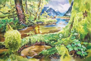 "Painting: ""Great Bear Rainforest"" by David McKeown"