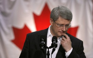 Stephen Harper thinking