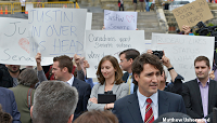Fake Trudeau protesters