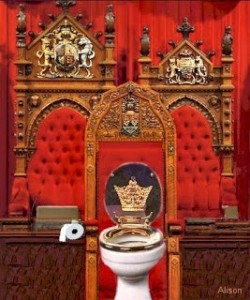 Speaker's Chair as toilet
