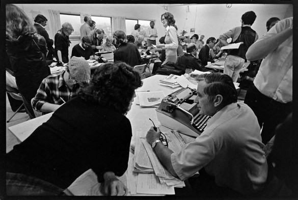 Vancouver Sun newsroom in the good old days