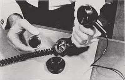 Old photo of bugged phone