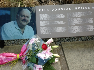 plaque commemorating Paul Douglas, Boilermaker