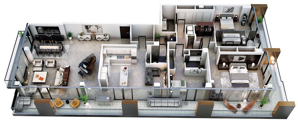 Model of condo interior