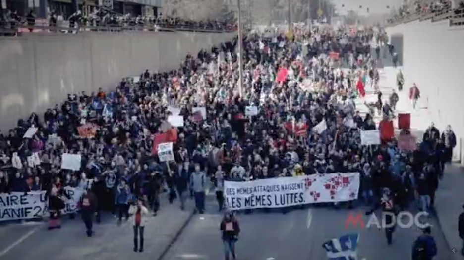 Montreal student austerity strike