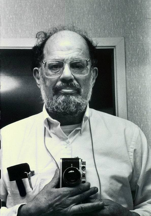 Allen Ginsberg with camera