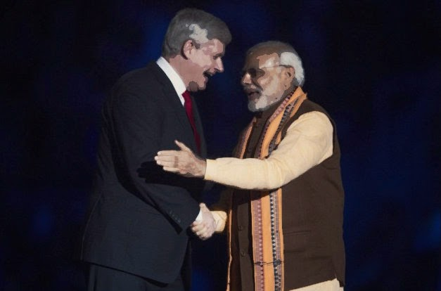 Stephen Harper and Narendra Modi