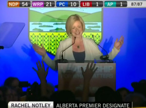 Rachel Notley victory speech
