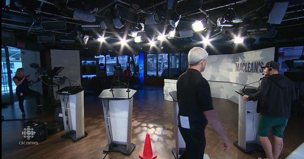 Studio for Maclean's/Rogers leaders debate
