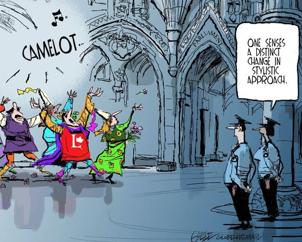 Cartoon: Liberals as Camelot